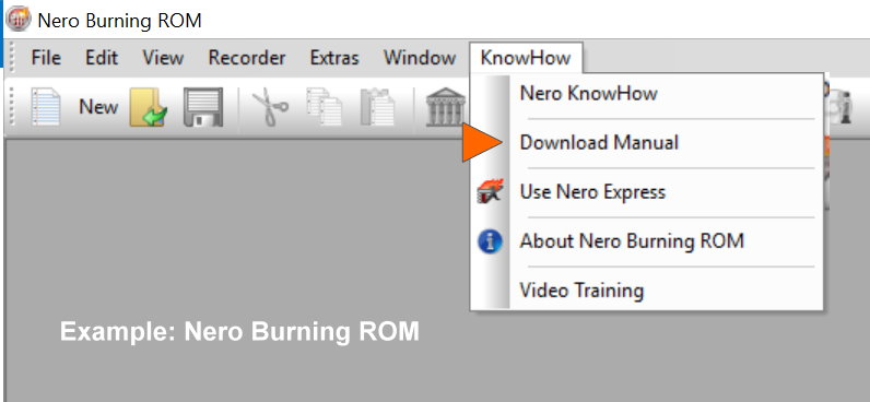 nero knowhow nero faq rh neroknowhow com Nero 8 Serial Number Nero 6