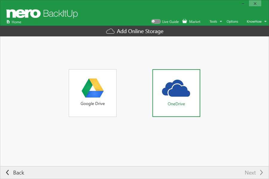 Can I backup via 'OneDrive' with Nero BackItUp? – Nero FAQ