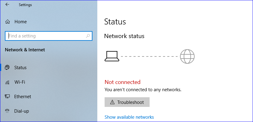 Network is disconnected