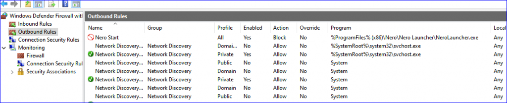 WindowsFirewallSetting