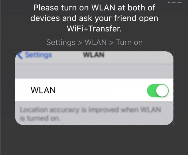 turn on WLAN