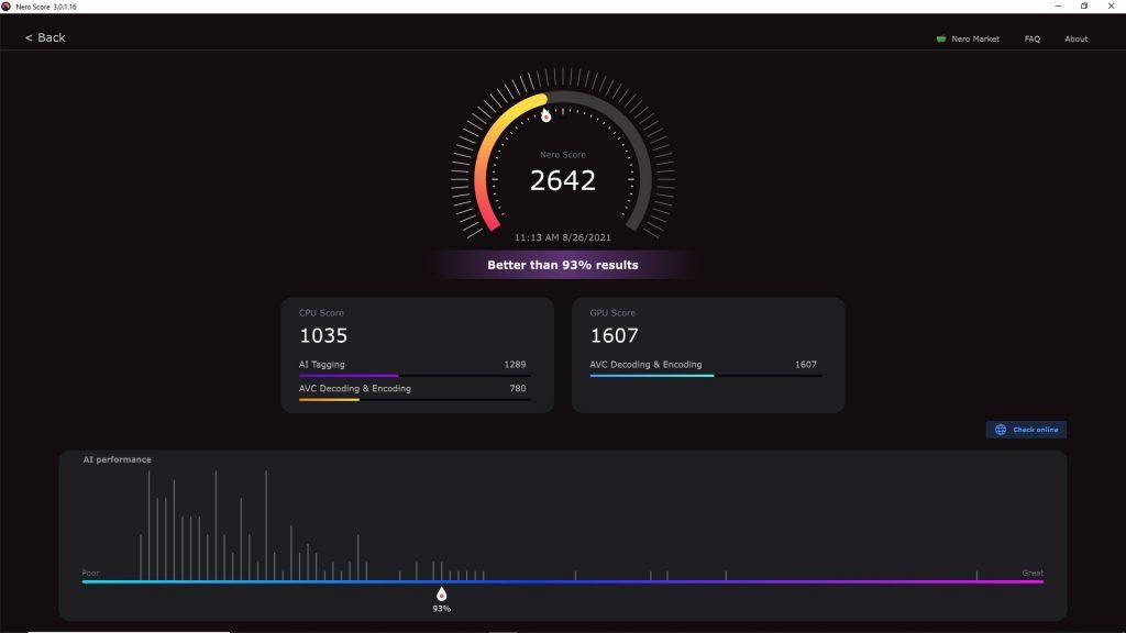 Nero Score_result