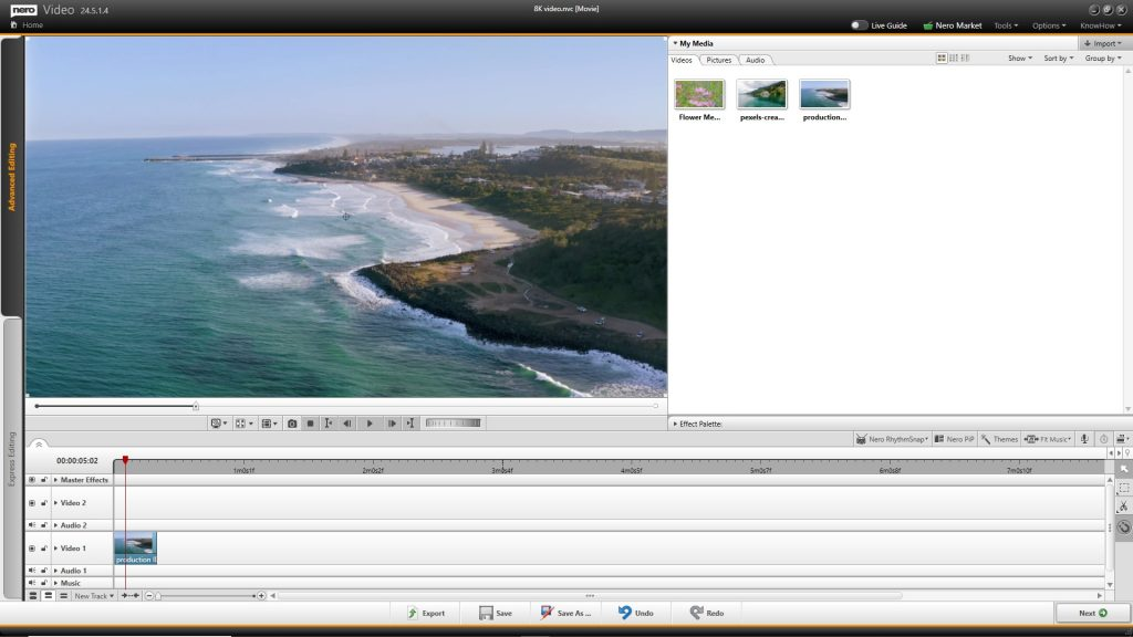 Nero Video_8K video editing